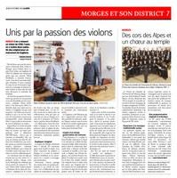 Unis par la passion des violons (19 OCTOBRE 2017 LaCôte)