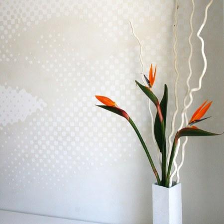 Wandgrafik mit Blumen